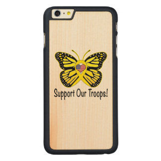 Support Our Troops with Butterfly Carved® Maple iPhone 6 Plus Case