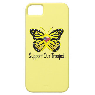 Support Our Troops with Butterfly iPhone 5 Case