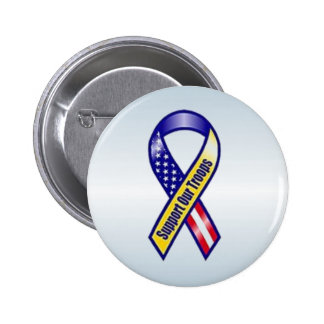 Support Our Troops Yellow Ribbon 2 Inch Round Button
