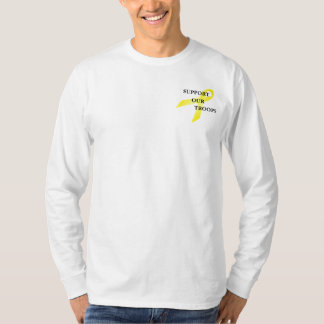 Support Our Troops Yellow Ribbon Mens LS T-shirt