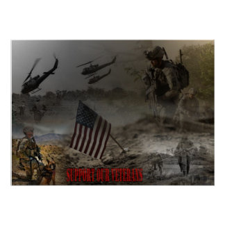 Support our US of veteran Poster