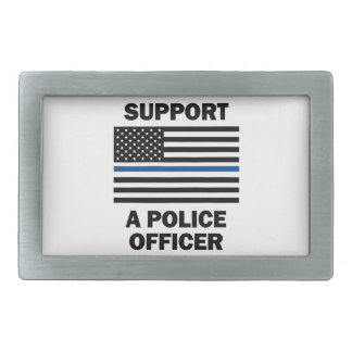 Support Police Officers Belt Buckles