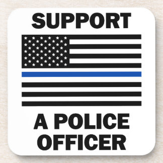 Support Police Officers Drink Coaster