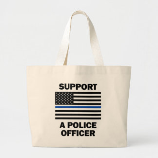 Support Police Officers Large Tote Bag
