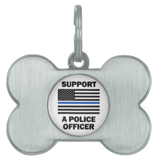 Support Police Officers Pet Name Tags