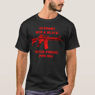 Support Red & Black with M4 Never Forget Shirt
