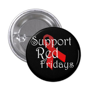 Support Red Fridays 1 Inch Round Button