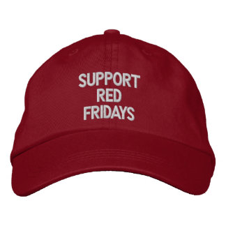 SUPPORT RED FRIDAYS EMBROIDERED HATS