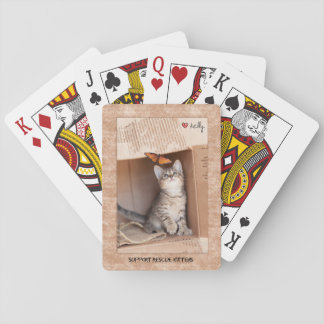 Support Rescue Kittens Playing Cards