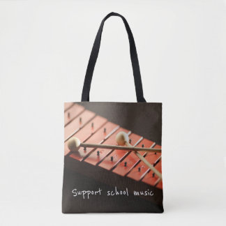 Support School Music Xylophone Tote