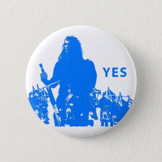 Support Scotland Short prop Pine 2 Inch Round Button