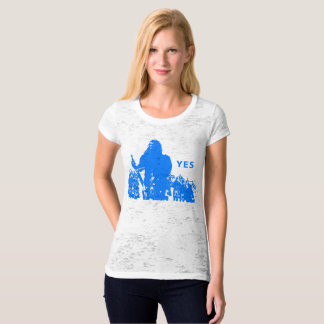 Support Scotland Women' S Canvas Fitted Burnout T-Shirt