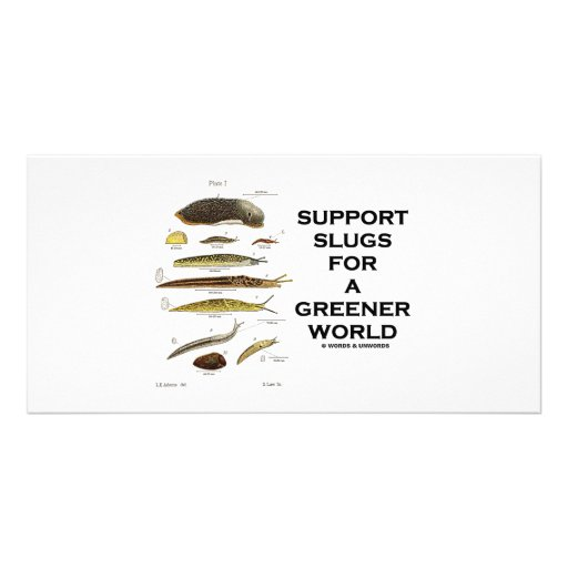 Support Slugs For A Greener World Photo Cards
