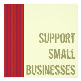Support Small Businesses Invitation