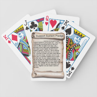 Support System Pledge 1b.jpg Bicycle Playing Cards
