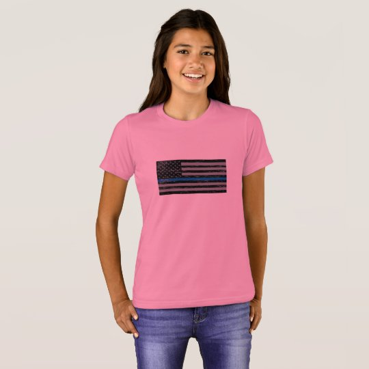 'Support the Blue' Girls Crew T-Shirt
