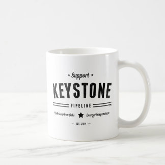 Support The Keystone Pipeline Basic White Mug