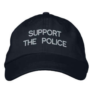 SUPPORT THE POLICE Cap by eZaZZleMan.com