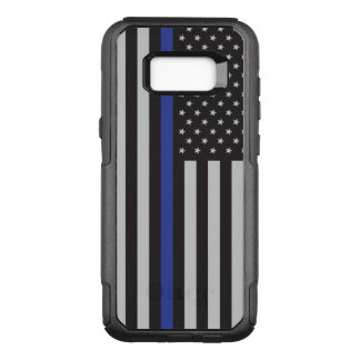 Support the Police Thin Blue Line American Flag OtterBox Commuter Samsung Galaxy S8+ Case