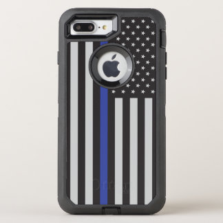 Support the Police Thin Blue Line American Flag OtterBox Defender iPhone 8 Plus/7 Plus Case