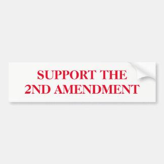 Support the Second Amendment Bumper Sticker