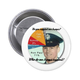 Support the Troops! 2 Inch Round Button