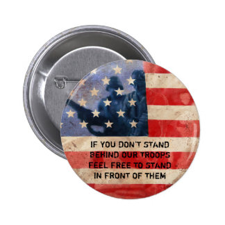 Support the Troops 2 Inch Round Button