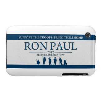 Support the Troops Bring Them Home Ron Paul 2012 iPhone 3 Case-Mate Case