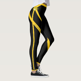 Support the troops leggings (in black and white)