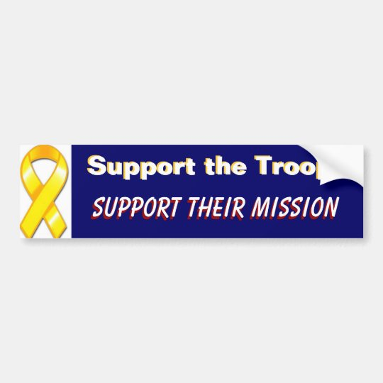 Support the Troops  Support Their Mission Military Bumper Sticker
