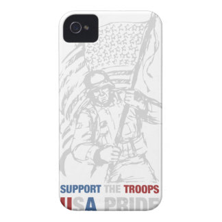 Support The Troops - USA American Pride iPhone 4 Case-Mate Case