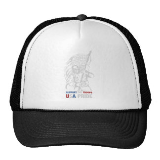 Support The Troops - USA American Pride Trucker Hat