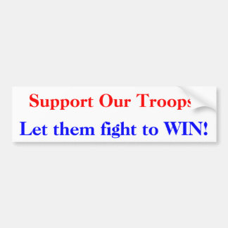 Support Troops Bumper Sticker