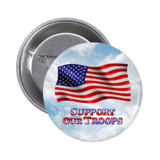 Support Troops Wavy - Round Button