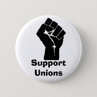 Support Unions 2 Inch Round Button