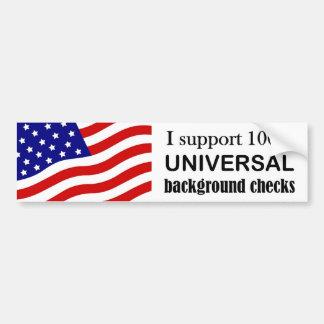Support Universal Background checks bumper sticker