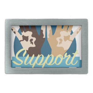 Support Vitiligo Research Rectangular Belt Buckles