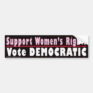 Support Women's Rights Bumper Sticker