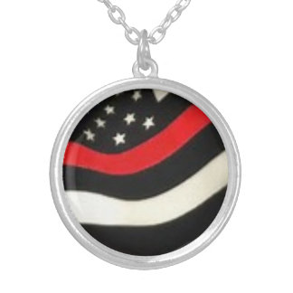 Support Your Firefighter! Silver Plated Necklace