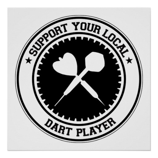 Support Your Local Dart Player Poster