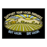 Support Your Local Farmers Poster