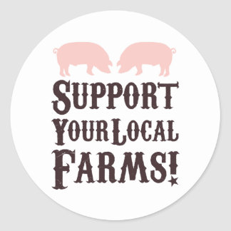 Support Your Local Farms! Stickers