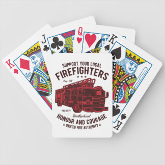 Support your local Fire Fighters Bicycle Playing Cards