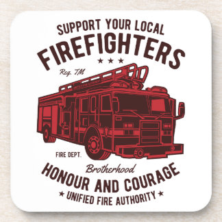 Support your local Fire Fighters Coaster