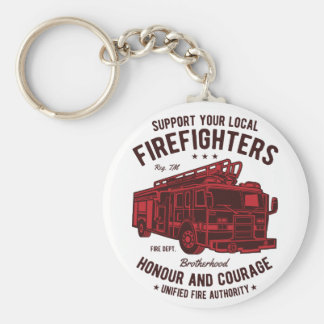 Support your local Fire Fighters Keychain