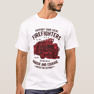 Support your local Fire Fighters Men's shirt