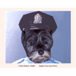 Support Your Local Police by Officer B.J. Photo Sculpture