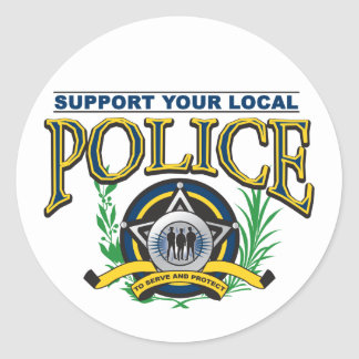 Support Your Local Police Classic Round Sticker