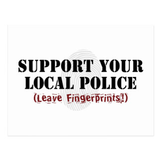 Support Your Local Police Postcard