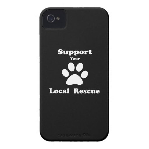 Support Your Local Rescue Blackberry Bold Cover
